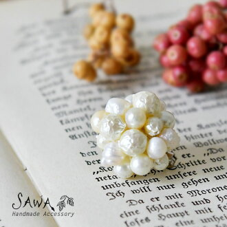 * 淡水珍珠×kurisuparu的胸针(te-bro-18)手佣人手制作家配饰女士天然