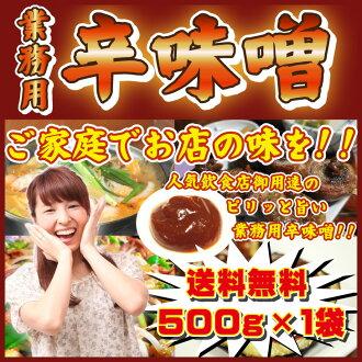 用大好評繼續,銷售,決定!! 辣味大醬500g 1包調料嘗試