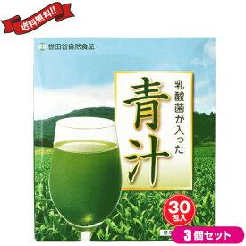 【ポイント6倍】最大34.5倍!世田谷自然食品 乳酸菌が入った青汁 30包 3箱セット