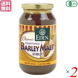 麦芽シロップ ヴィーガン 水飴 有機麦芽シロップ エデン EDEN 566g 2個セット 送料無料