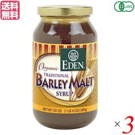 麦芽シロップ ヴィーガン 水飴 有機麦芽シロップ エデン EDEN 566g 3個セット 送料無料