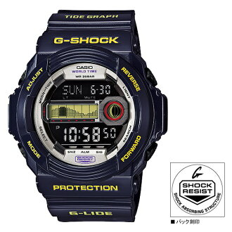 "Model GLX150B6JF mounted with CASIO Casio G-SHOCK ""G-LIDE"" (G ride) tide graph"