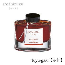 PILOT(パイロット)【万年筆】ボトルインキ 色彩雫(iroshizuku) INK-50-FG(冬柿:フユガキ)