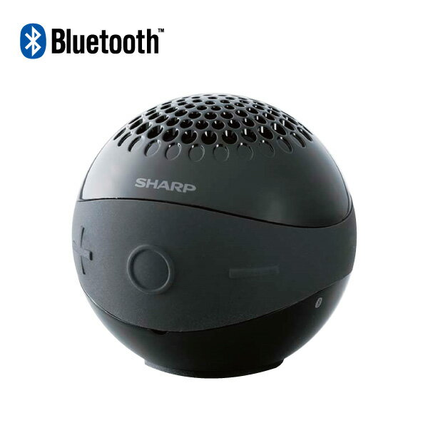 SHARP【オーディオ】シャープ ワイヤレススピーカー Bluetooth対応 ハンズフリーマイク内蔵 WSBL1B(ブラック系)【smtb-MS】