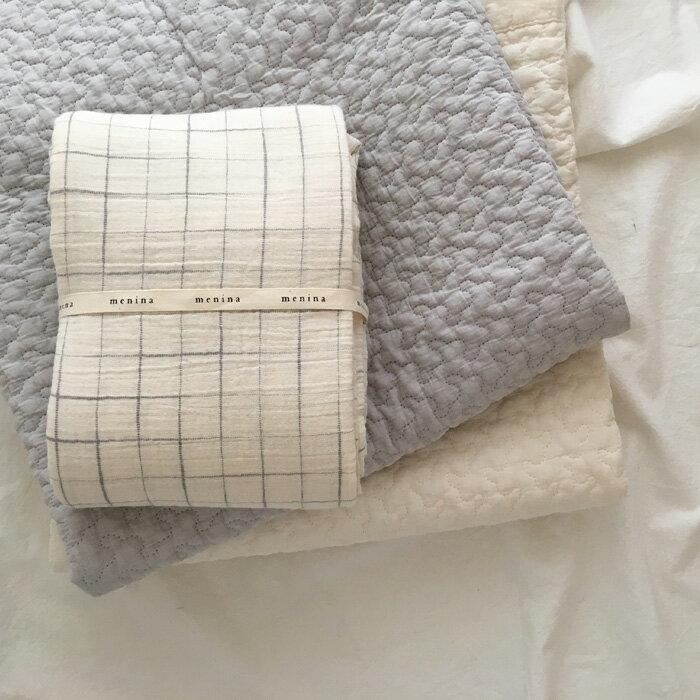 menina チェック ソフト スワドル cotton soft blanket☆