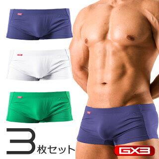 【3枚パンツセット】GX3/ジーバイスリーRELAXシームレスボクサーパンツ
