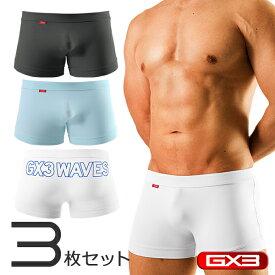 【3枚パンツセット】GX3/ジーバイスリー Surf&Wave スパッツ ボクサーパンツ