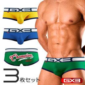 【3枚パンツセット】GX3/ジーバイスリー DRY-SPORTS- チャンピオン ローライズボクサーパンツ