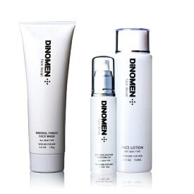 DiNOMEN メンズ スキンケア ベーシック セット オイリー (脂性肌〜混合肌にオススメ) 洗顔 化粧水 保湿ジェル 男性 化粧品 美容 エイジングケア しみ しわ たるみ