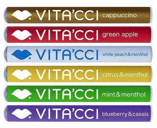送料無料ポイント10倍ビタッチ正規品6種類水蒸気スティック電子タバコビタミンスティックVITACCIビタミンフレーバーサプリメント通販MCネコポス