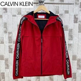 送料無料 Calvin Klein カルバンクライン ウィンドブレーカー マウンテンパーカー ナイロンジャケット CK テープロゴ メンズ ブランド 新作 MC