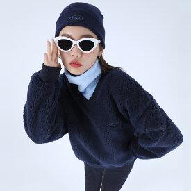 BASIC COTTON【ベーシックコットン】ダンブルトレーナー/全3色【あす楽対応】【韓国 韓国ファッション 韓国ブランド トップス トレーナー ボア ユニセックス 原宿 ストリート レディース】