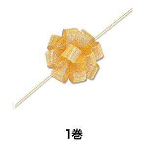 【リボン】ワンタッチメタルリボン 24×20 ゴールド