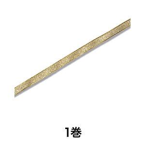 【リボン】エレガンスメタルリボン 6×20 ゴールド