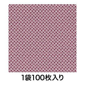 【包装紙】包装紙 半才 鹿の子 紫 100枚入