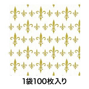 【包装紙】包装紙 半才 マドンナリリー 金 100枚入