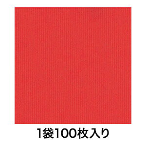 【包装紙】包装紙 全判 筋無地 赤 100枚入