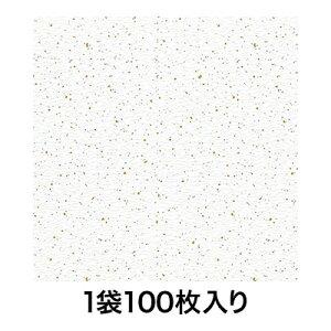 【包装紙】包装紙 半才 金銀振り 白 100枚入