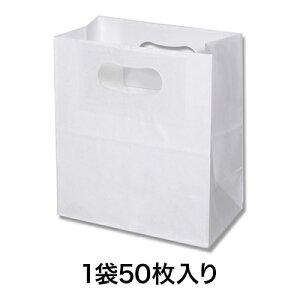 【手提角底袋】PD892キャリーマルシェ プレーンホワイト50枚