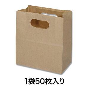 【手提角底袋】PD893キャリーマルシェ プレーンクラフト50枚