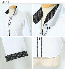 シャツメンズ白シャツカジュアルシャツフォーマル無地春春服メンズスタイルmenz-style