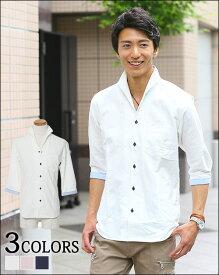 ジャケット メンズ カジュアルジャケット 7分袖 シャツ