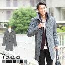 送料無料 ロングコート コート メンズ イタリアンカラー ウール メンズファッション ウール混イタリアンカラーロング…
