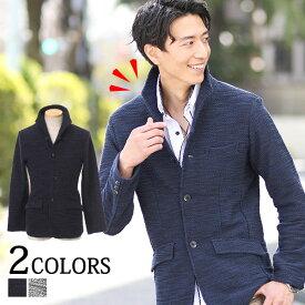 ジャケット メンズ テーラードジャケット イタリアンカラー スラブ地 カジュアル ネイビー ブラック オフホワイト M/L/LL/3L