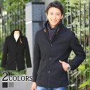 【送料無料】コート メンズ メルトンコート アウター メンズ スタンドカラー
