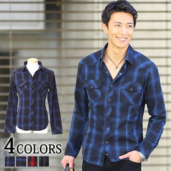 送料無料 シャツ メンズ チェックシャツ カジュアルシャツ ネルシャツ カジュアル チェック 長袖 メンズファッション