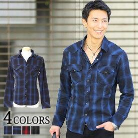シャツ メンズ チェックシャツ カジュアルシャツ ネルシャツ カジュアル チェック 長袖 メンズファッション