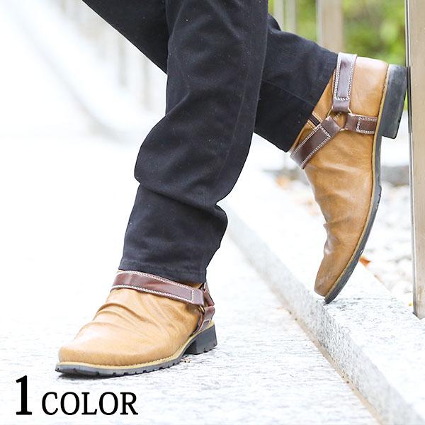 冬 靴 シューズ メンズ カジュアル ブーツ エンジニアブーツ メンズブーツ ドレープブーツ