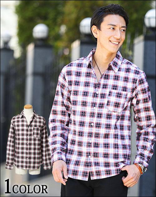 【送料無料】シャツ メンズ カジュアルシャツ 無地 ボタンダウン ラインテープデザイン長袖シャツ