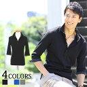 ポロシャツ メンズ 7分袖 ドット シンプル 春 夏 メンズファッション
