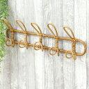 着後レビューで特典! JUGLAS ユグラ ウォールハンガー5連/Creer壁掛け ハンガー はんがー ラタン インドネシア 籐製 …