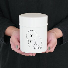 CLASKA クラスカ MAMBO マンボ キャニスター缶 キャニスター 保存容器 缶 コーヒー缶 紅茶缶 収納 ホワイト コーヒー 紅茶 お茶 食品 ブリキ ビジョン・フリーゼ 犬 塩川いづみ イラスト 白 シンプル おしゃれ 日本製