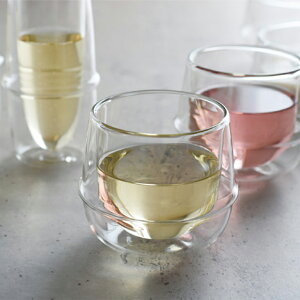 ワイングラス KINTO キントー KRONOS 二重 ダブルウォール ホット ドリンク 耐熱ガラス ホットワイン グラス コップ コーヒー ギフト プレゼント 箱入り 電子レンジOK 食器洗浄機OK