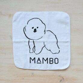 CLASKA クラスカ mambo ハンカチタオル ガーゼ 白 犬 ギフトプレゼント キッズ