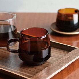 KINTO キントー SEPIA セピア マグ 340ml マグカップ カップ グラス ガラス 耐熱 熱湯 レンジ 食洗機OK コーヒー 紅茶 おしゃれ ブランド シンプル レトロ ブラウン アンバー ギフト プレゼント 贈り物