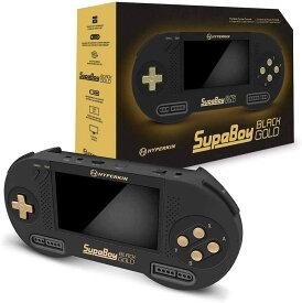 【ハイパーキン】 ハイパーキン スーパボーイ スーパーファミコン ポータブル互換機 ブラック ゴールド スペシャルエディションHYPERKIN SUPABOY Black Gold Special Edition