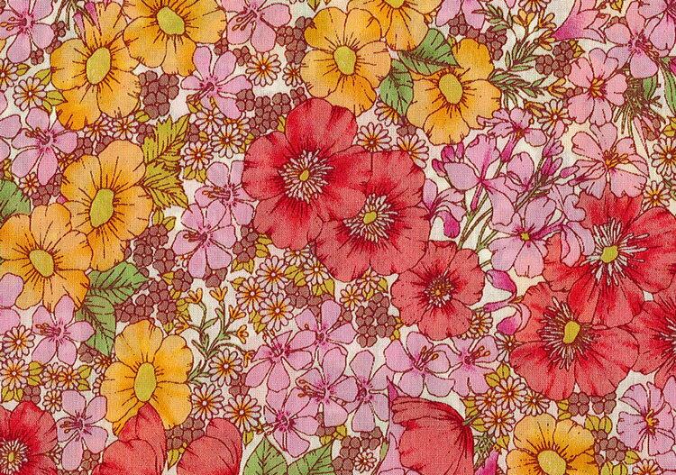LIBERTYリバティプリント・国産タナローン生地(エターナル)<Gloria Flowers>(グロリアフラワーズ)DC10480WE リバティ 生地