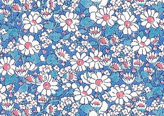 LIBERTY自由印刷、E1粗斜紋布布料<Alice W>(愛麗絲、W)3635152-15AD)
