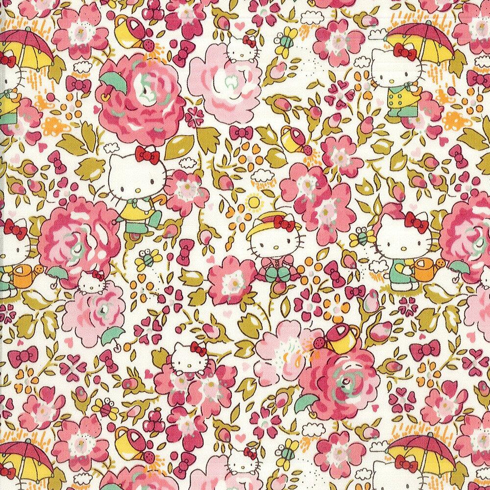 ハローキティ×リバティアートファブリック<Felicite Hello Kitty>(フェリシテ ハローキティ)【ピンク】DC27904-12A