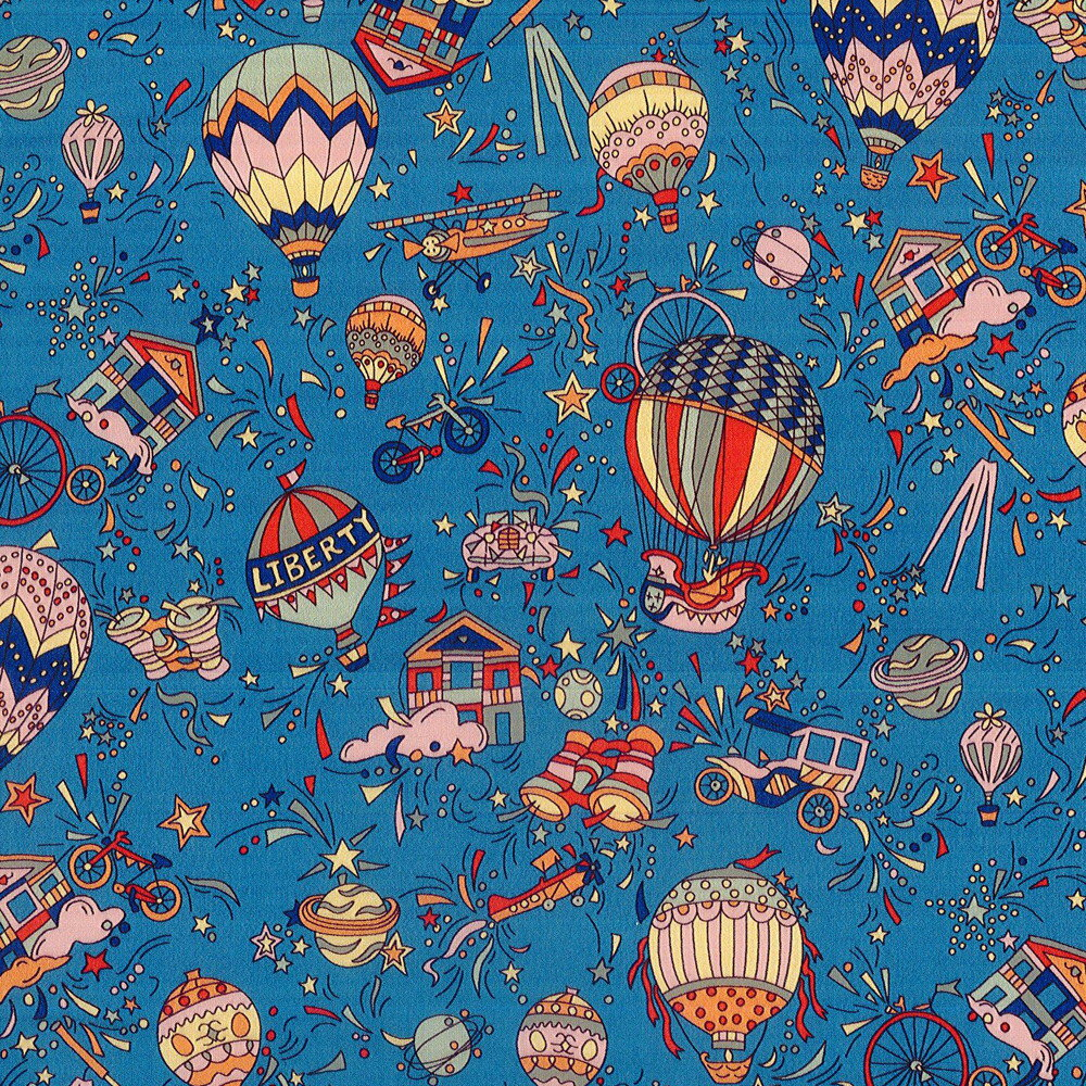 LIBERTYリバティプリント・国産タナローン生地<Nara Sky>(ナラスカイ)【ブルー】DC30114-J19D
