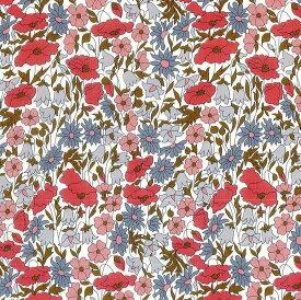 LIBERTYリバティプリント・国産タナローン生地(エターナル)<Poppy&Daisy>(ポピー&デイジー)【ピンク】3632104XE