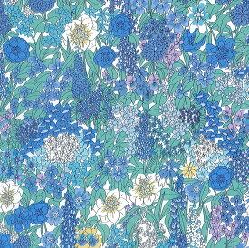 LIBERTYリバティプリント・国産タナローン生地(エターナル)<Ciara>(シアラ)【ブルー】3635047YE