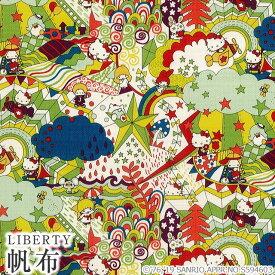 ハローキティ×リバティアートファブリック帆布〜45TH ANNIVERSARY COLLECTION(45周年記念)〜メルシー別注 LIBERTY 11号帆布生地<Magical Land>(マジカルランド)DC29971-J19GC