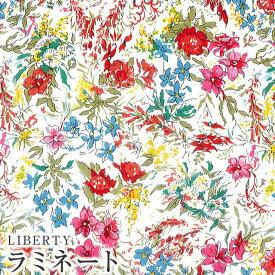 LIBERTYリバティプリント・国産つや消しラミネート(ビニールコーティング生地)【エターナル】<Australian Flower>(オーストラリアンフラワー)MATLAMI3630078WE