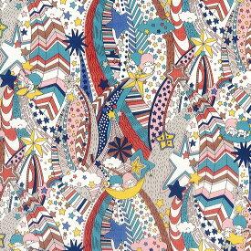 リトルツインスターズ×リバティファブリックス 〜45TH ANNIVERSARY COLLECTION(45周年記念)〜LIBERTYリバティプリント・国産タナローン生地<My Starry Sky>(マイ・スターリー・スカイ)【ブラウン】DC30713-J20D