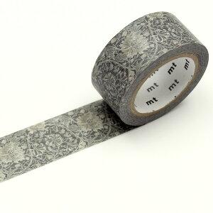 マスキングテープ(20mm×7m) mt ウィリアム・モリス William Morris(Pure Honeysuckle & Tullip Black ink)【MTWILL18】カモ井加工紙 マステ